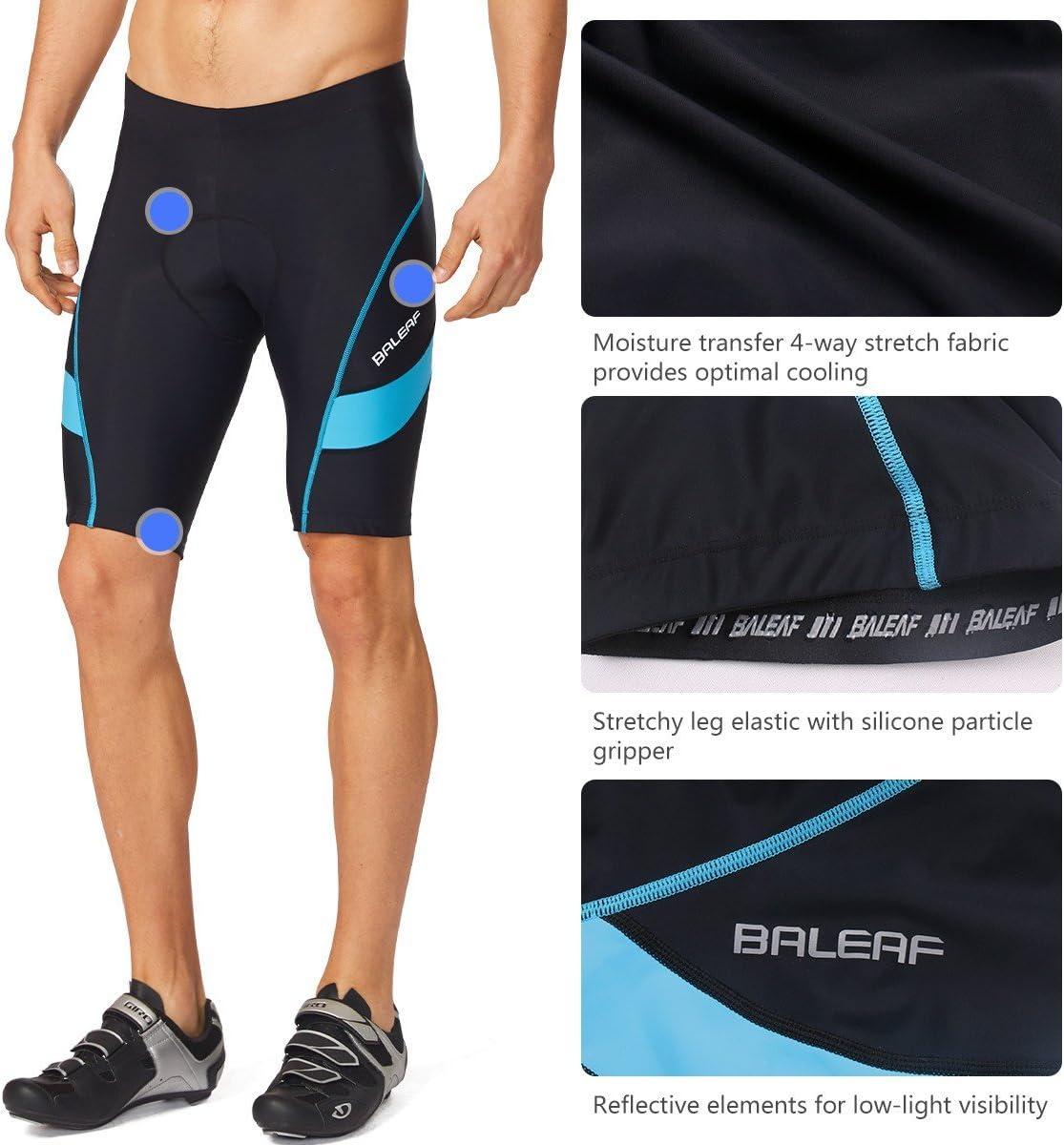 BALEAF Uomo Pantaloncini da Ciclismo Asciugatura Rapida Traspirante