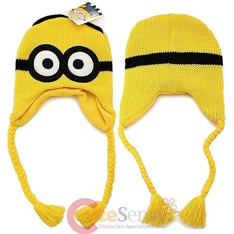Amazon.com  Two-eyed Minion Despicable Me ~ Laplander Hat  Sports ... 9f7b45e44a4b