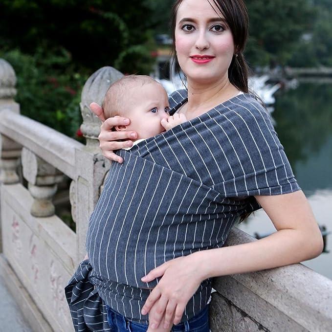 venmo Baby Wrap Stretchy Sling säugling Pecho Bolsa Carrier Breathable vestido de mujer discreción Lactancia bolsillos Skater vestido embarazada Business ...