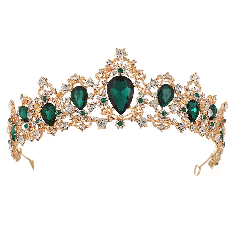 Bridesmaid Flower Girl Princess Frozen Winter Wedding Tiara Hair Jewelry Sapphire and Ice Elsa Renaissance Tiara Crystal Bridal Halo Crown