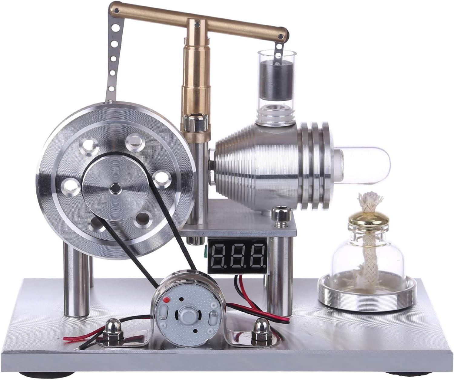 deguojilvxingshe Modell Stirling Motoren Balance Typ Hei/ßluft Stirling Motor Generator Modell Wissenschaft Lernspielzeug f/ür Erwachsene und Kinder
