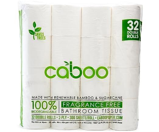 Amazon.com: Caboo Tree-Free Bamboo Toilet Paper, Bulk 32 Double ...