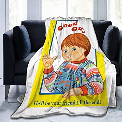 Zul Good Guys Childs Play Chucky Decorative Extra Soft Blanket Fuzzy Lightweight Shaggy Blanket Fluffy Cozy Plush Comfy Microfiber Blanket for Couch Sofa Bed 50x40 Inch: Home & Kitchen