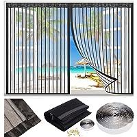 Magnetische Vliegengordijn, klamboe Hordeur, 60x60cm Garagedeur Ingang venster Ponsvrij klittenband Magneten van Boven…