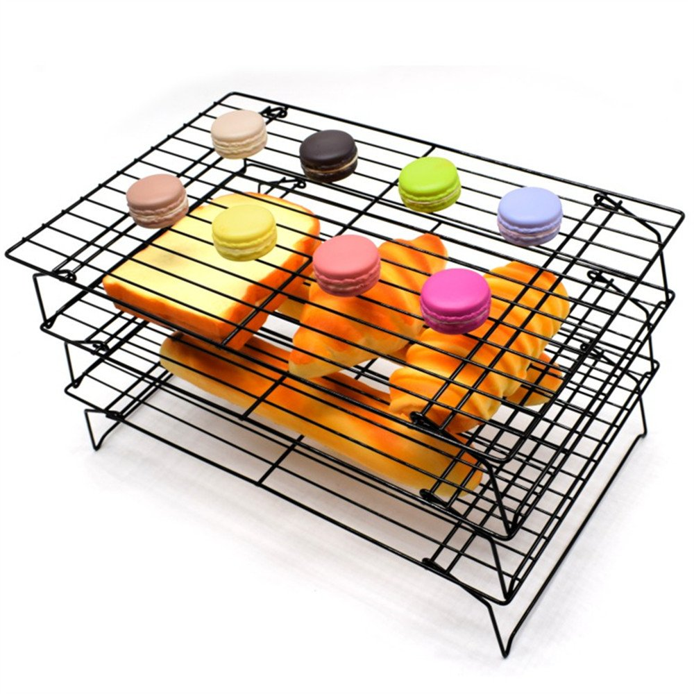 AK ART KITCHENWARE 3 layers Cooling Racks for cookie cake bread Oven Rosting by AK ART KITCHENWARE (Image #3)