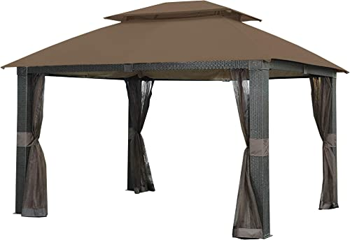 Garden Winds Replacement Canopy for The Revella Gazebo – Riplock 350 – Nutmeg