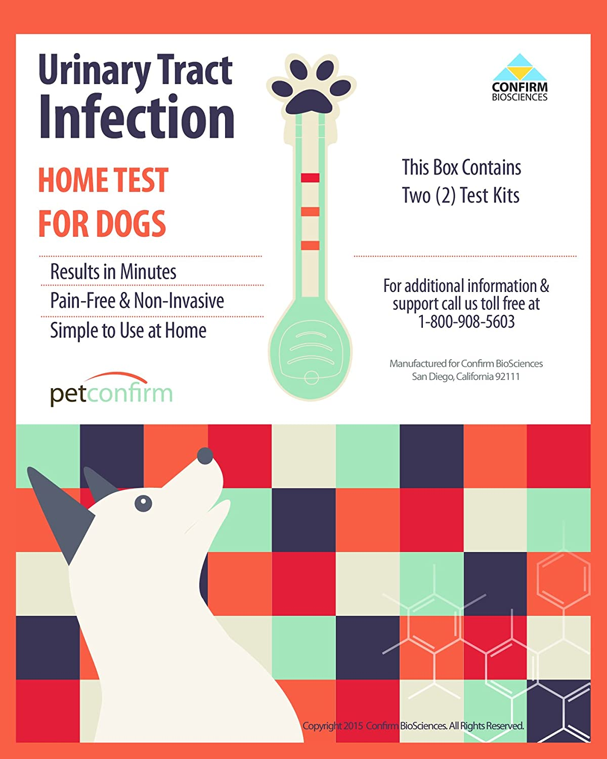 Instant Urinary Tract Infection (UTI) Testing Kit For Dog Early Screening  At Home (2 Tests Per Package): Amazon.co.uk: Pet Supplies