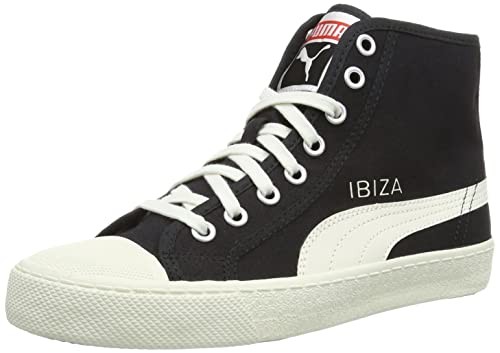 Puma Ibiza Mid, Unisex-Adults' High-Top Trainers, Black - Schwarz