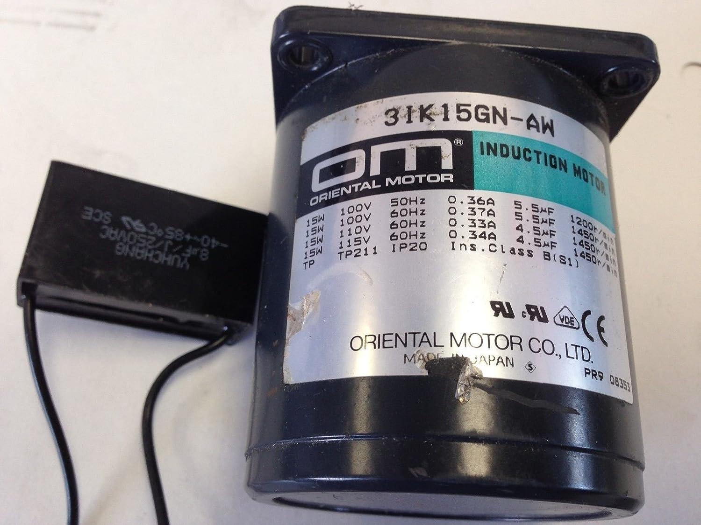 NEW OLD OM 3IK15GN-AW ORIENTAL MOTOR 115V 60HZ 1PHASE 1//50HP INDUCTION Z100