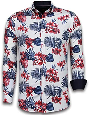 Camisas Italianas - Slim-fit Camisa Caballero - Blouse Big ...