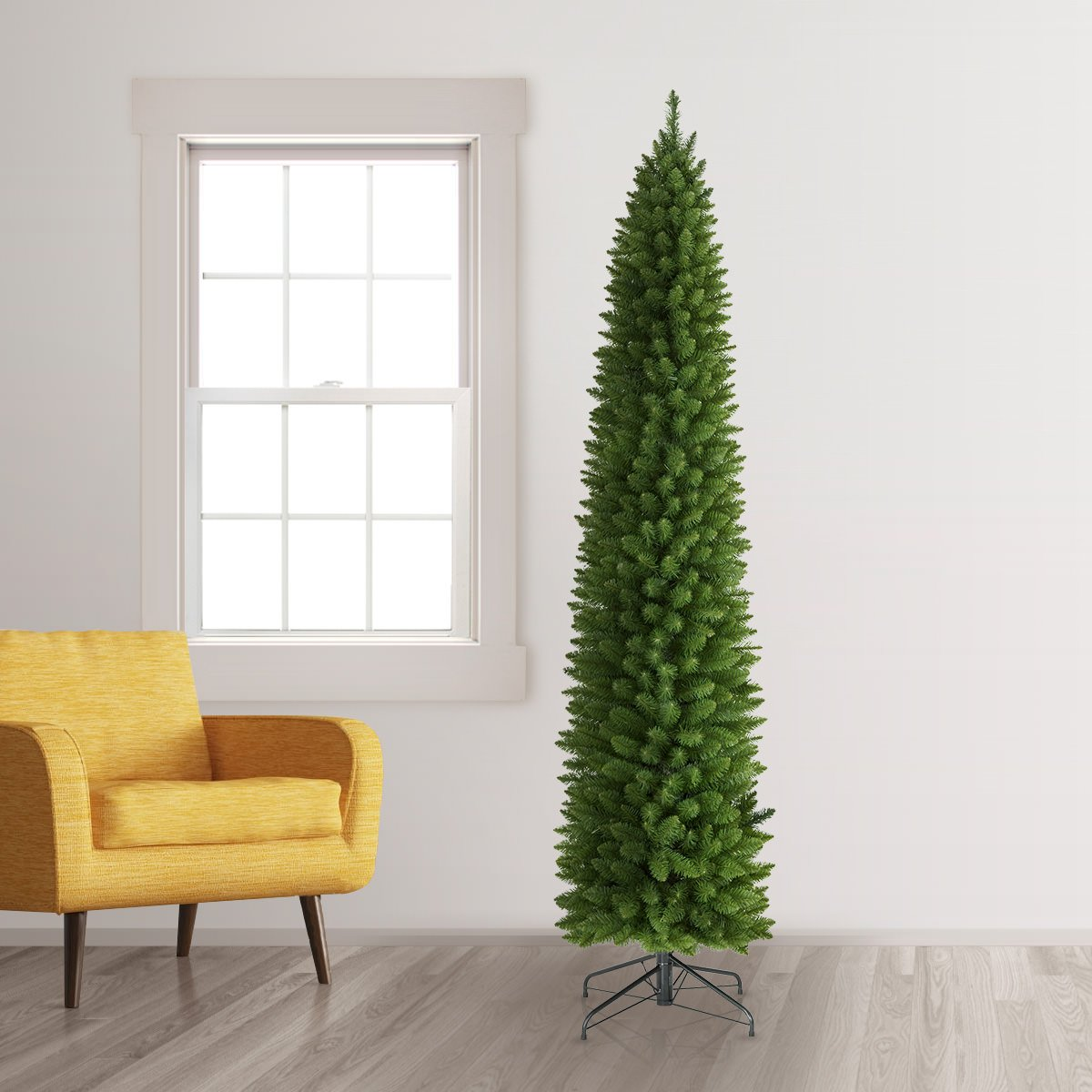 Treetopia No. 2 Pencil Artificial Christmas Tree, 6 Feet, Unlit