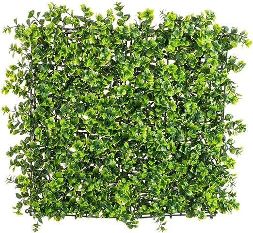 Panel Artificial de Enredadera para jardín Vertical de Exterior Verde 50x50 cm - LOLAhome: Amazon.es: Hogar
