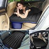 Ancheer Inflatable Car Mattress Car Mobile Cushion Travel Air Bed Camping Car Back Seat Extended Mattress with Air Pump, Repair Pad, Glue Kits