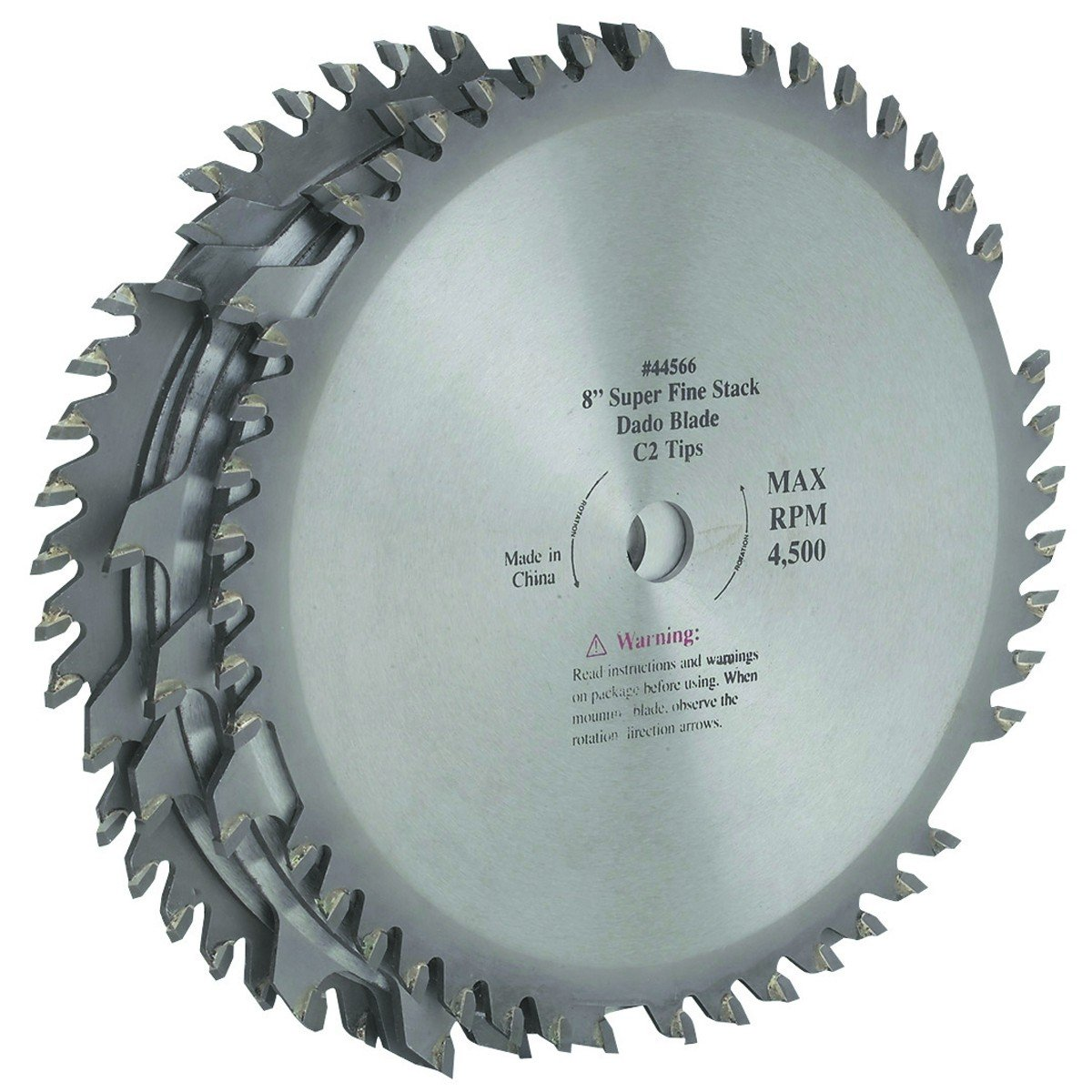 Amazon 8 inch c2 tungsten carbide tipped dado blade two 42 amazon 8 inch c2 tungsten carbide tipped dado blade two 42 tooth outside blades 58 arbor home improvement greentooth Choice Image