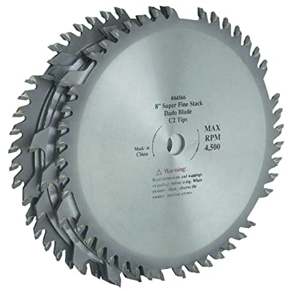 Amazon 8 inch c2 tungsten carbide tipped dado blade two 42 8 inch c2 tungsten carbide tipped dado blade two 42 tooth outside blades 58quot keyboard keysfo Gallery