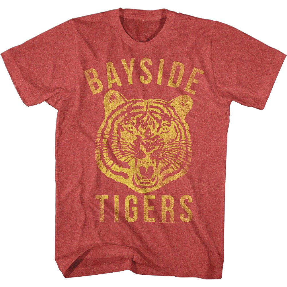 Saved By The Bell 1990s Bayside Tigers Teen Comedy Sitcom Adult Red Tshirt