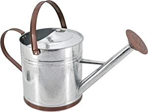 Arcadia Garden Products WC12 Classic Watering Can, 1.3 gal, Shiny Galvanized Metal