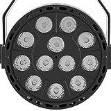 Zerodis 12 LEDs Stage Par Light Bar DJ Disco