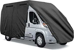 North East Harbor Waterproof Durable Class-B RV Motorhome Cover Fits Length 21'-23' Class B Camper Van/Conversion Vans Zippered Panels 300D Polyester Fabric - 23ft L x 7ft W x 8ft H