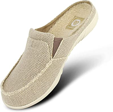 Mens Slippers with Arch Support, Canvas