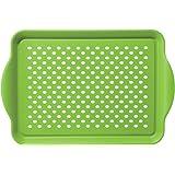 Oggi 5504.11 Rectangle Non Skid Rubber Grip Serving Tray, Green