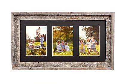 3 opening 5x7 frame helpcenterdownload barnwoodusa multi opening mat with 100 upcycled reclaimed wood frame 3 amazoncom
