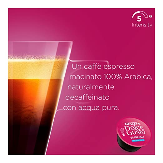 Amazon.com : NESCAFÉ Dolce Gusto ESPRESSO DECAF 16 Pods Dolce Biscuit Box : Grocery & Gourmet Food