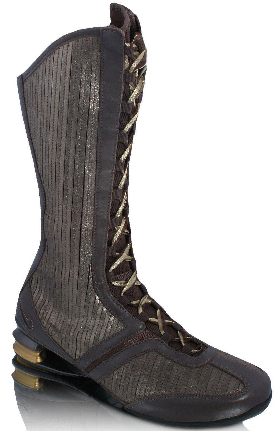 Nike Shox Q´Vida Hi Summer boots brown / gold RARE !!!, EU Shoe Size:EUR 36.5