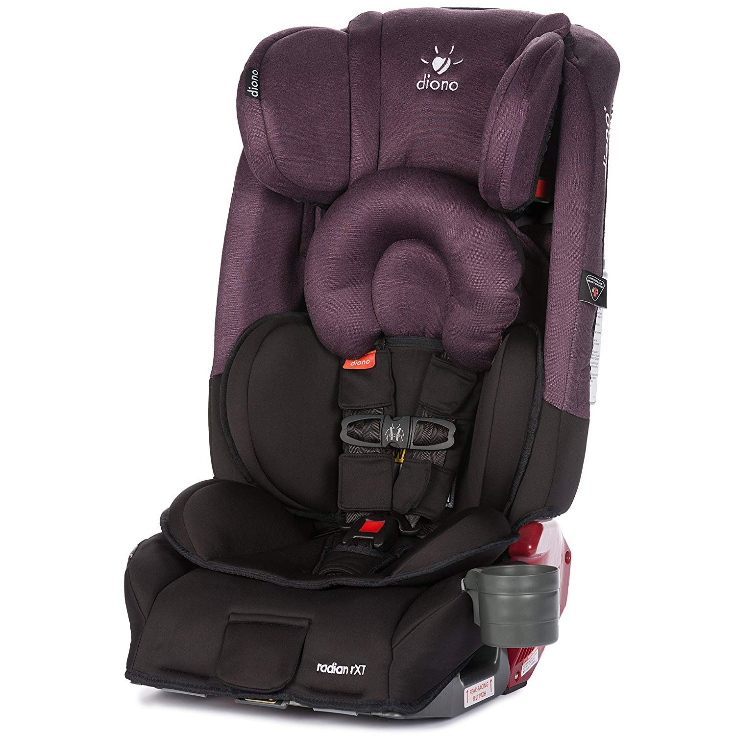 Diono Radian 3RXT All-in-One Convertible Car Seat Black Extended Rear-Facing 5-45 Pounds The Original 3 Across Forward-Facing to 65 Pounds Booster to 120 Pounds