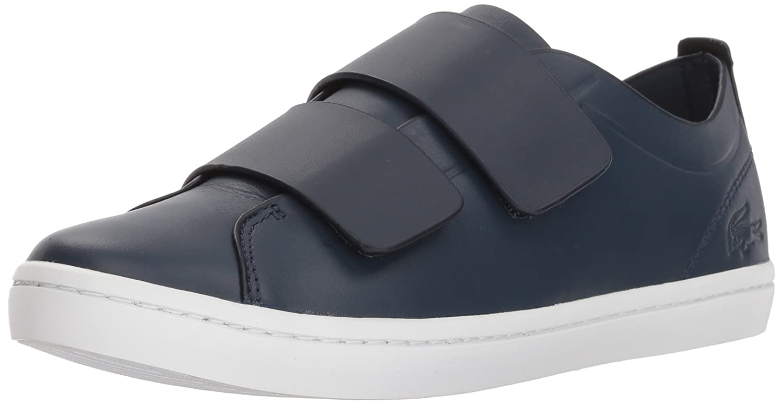 Lacoste Women's Straightset Strap 118 1 Caw Sneaker B071X86V13 5 B(M) US|Navy/White