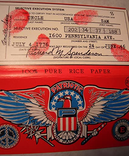 Amazon com: Patriotic RED Cigarette Rolling Papers Selective