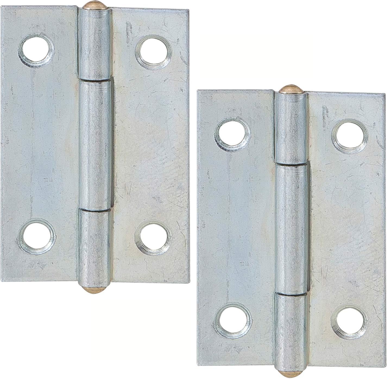 60x50 mm SECOTEC Scharnier gerade M/öbelscharnier Stahl vernickelt 2 St/ück