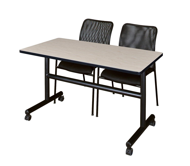 Marvelous Amazon Com Regency Mkft4830Pl75Bk And 2 Mario Stack Chairs Interior Design Ideas Clesiryabchikinfo