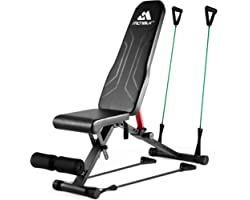 Weight Bench for Full Body Foldable Workout Bench 650lbs, MCNBLK Adjustable Workout Bench Press for Home Gym Strength Trainin
