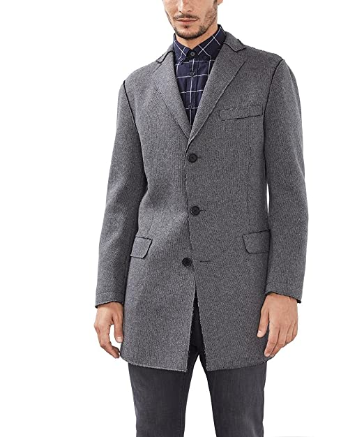 ESPRIT MEN KASCHMIR WOLLMANTEL Mantel Winter dunkelgrau