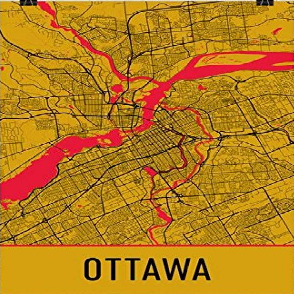 Ottawa On Map Of Canada.Amazon Com Ottawa Poster Ottawa Art Print Ottawa Wall Art Ottawa