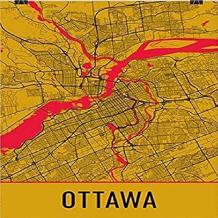 Ottawa On Map Of Canada.Amazon Com Ottawa Poster Ottawa Art Print Ottawa Wall Art Ottawa