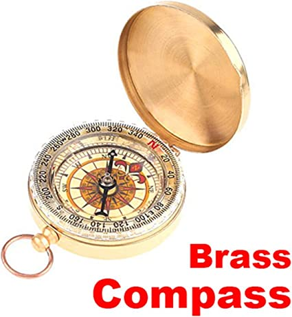 Pocket Golden Camping Hiking Compass Military Outdoor Sports Survival Tools
