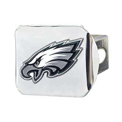"FANMATS NFL Philadelphia Eagles Metal Hitch Cover, Chrome, 2"" Square Type III Hitch Cover: Automotive"