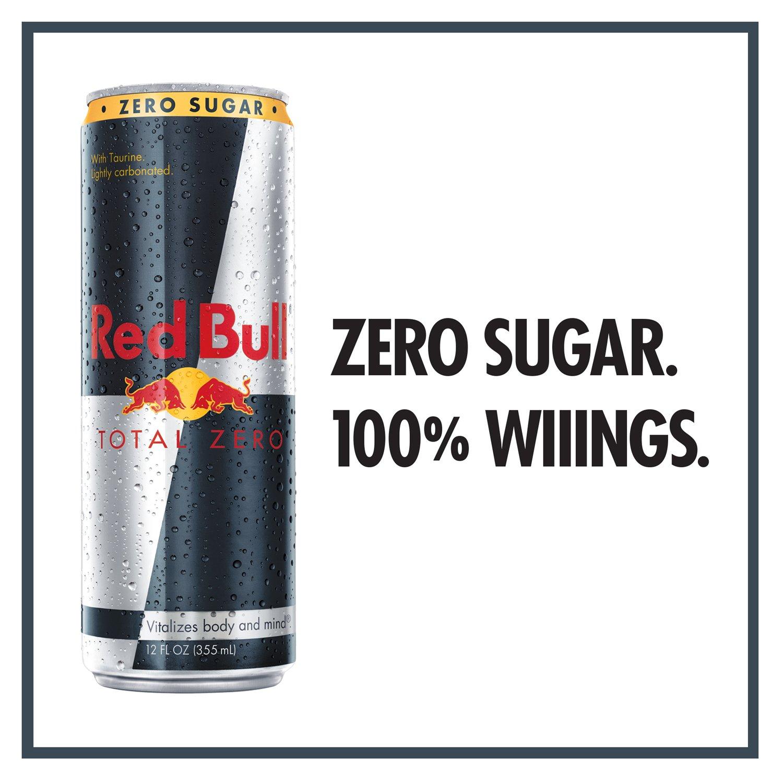 red bull total zero energy drink 12 fl oz cans 24 pack. Black Bedroom Furniture Sets. Home Design Ideas