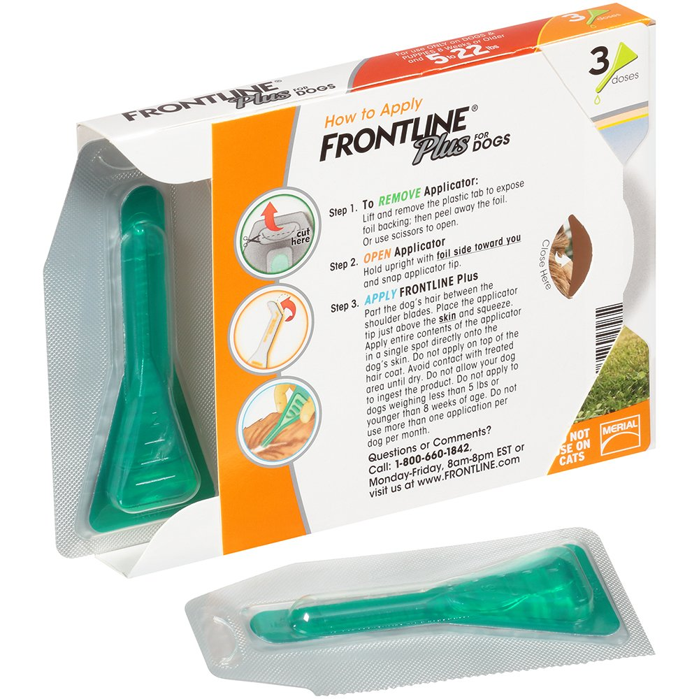 Frontline Plus for Dogs Small Dog (5-22 pounds) Flea and Tick Treatment, 3 Doses by Frontline (Image #4)