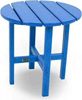 "product image for POLYWOOD RST18PB Round 18"" Side Table, Pacific Blue"