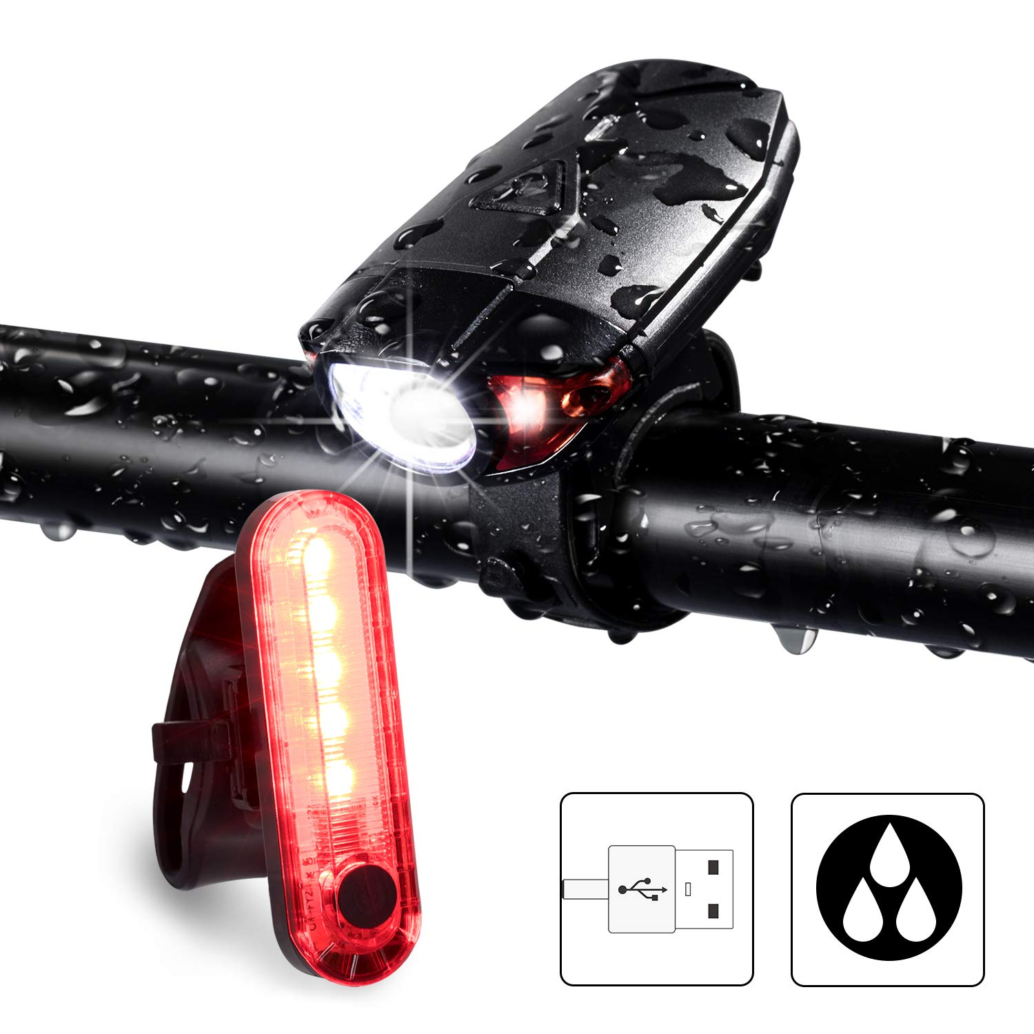 Bright Bicycle L Bike Lights Set of Four FX FFEXS Bike Lights Front and Back