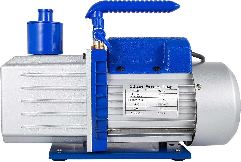 Kit Pompa per Vuoto Automatica 1 HP VEVOR Pompa per Vuoto per Aria Condizionata 9 CFM Manutenzione Automatica Radiatore Intelligente auto Condizionatore daria per Frigorifero con Manometro 220 V