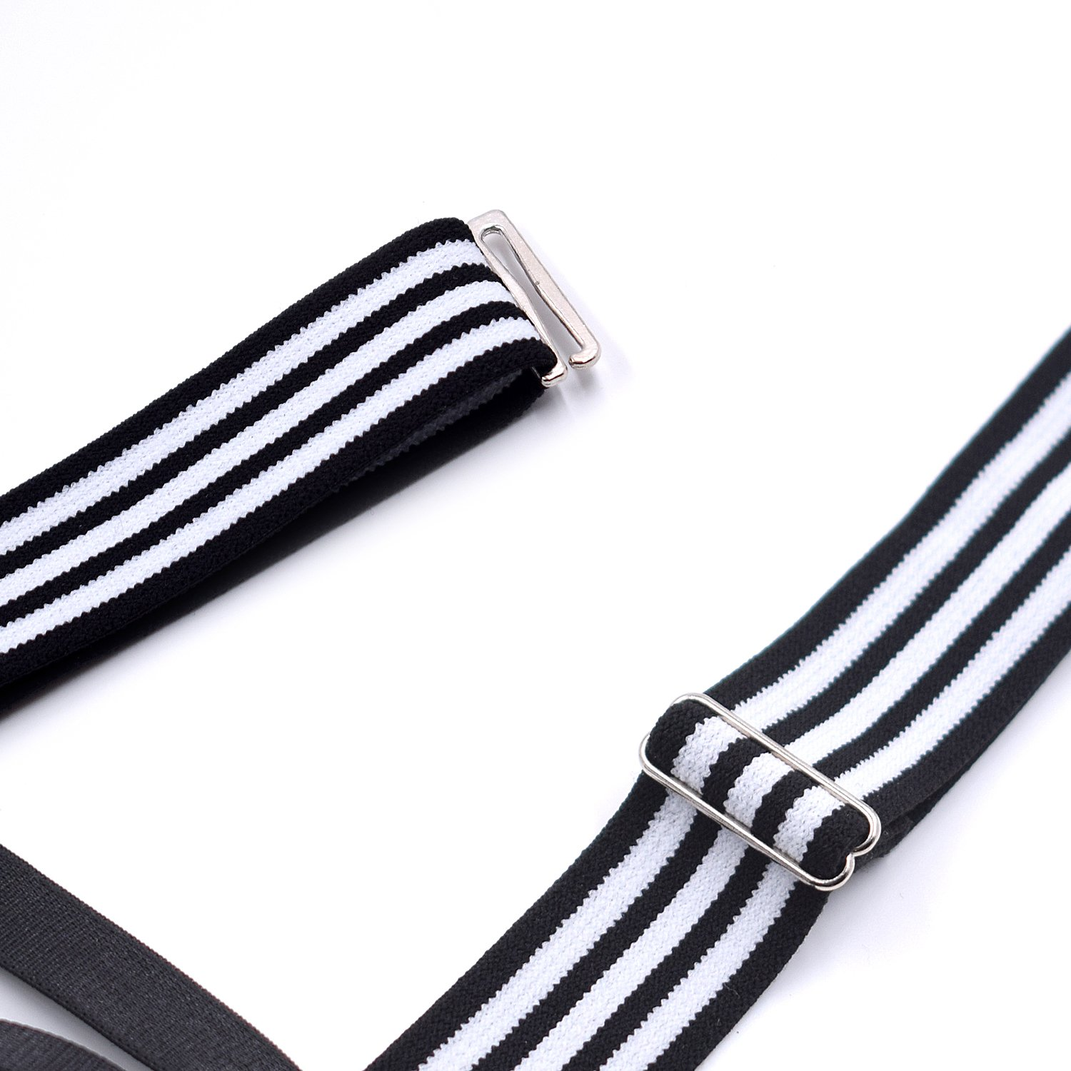 Mens Shirt Stays Garters Suspenders Shirt Holder Straps With 3 Non-slip Locking Clamps