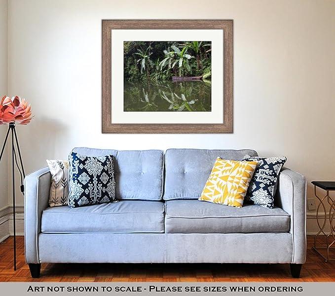 Amazon.com: Ashley Framed Prints Green Jungle and Water Lake ...