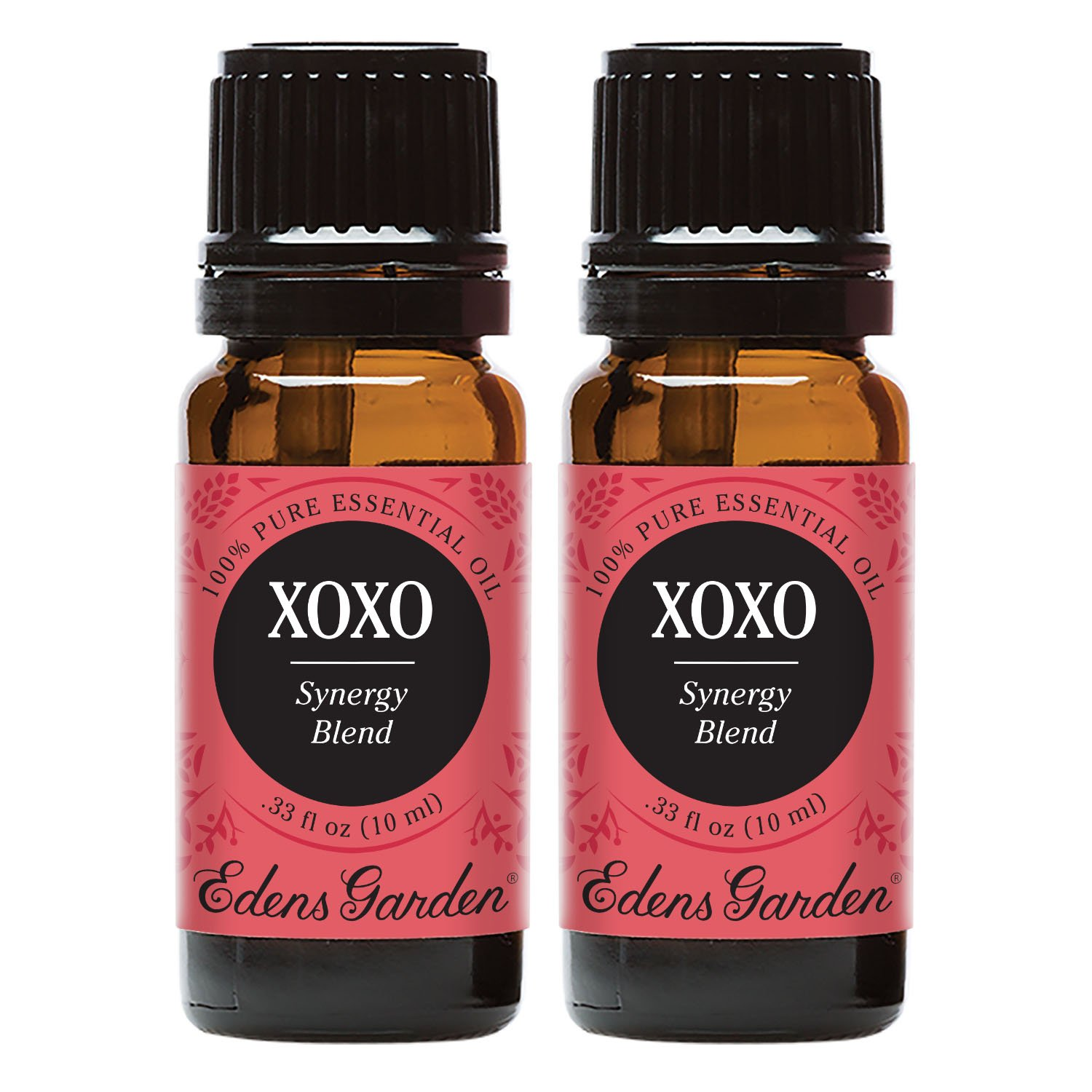Edens Garden XOXO Value Pack Synergy Blend 100% Pure Undiluted Therapeutic Grade GC/MS Certified Essential Oil (Cardamom, Cinnamon Bark, Ginger, Clove Bud, Sandalwood, Jasmine, Vanilla)