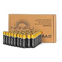 NANFU Premium Alkaline AA Battery (48 Pack), LR6 1.5v Leak Proof Long Lasting Double A Batteries, Non-Rechargeable for…
