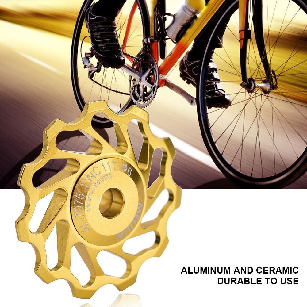 1//5x Mountain Bike Bicycles Cycling Rear Derailleur Guide Roller Jockey Whee RAS