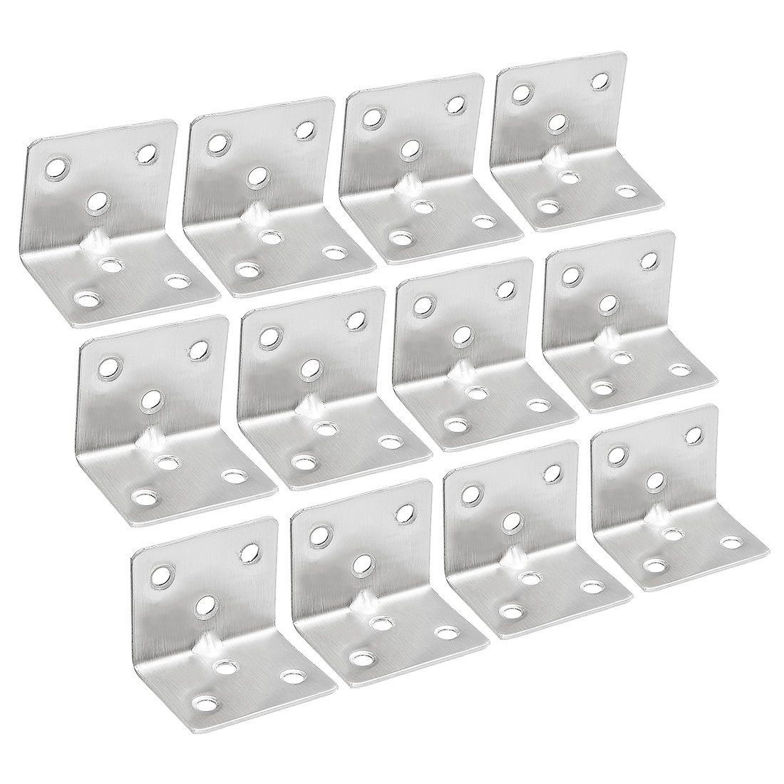 sourcingmap 30pcs 28mmx28mmx36mm Stainless Steel Corner Brace Joint L Shape Right Angle Brackets Fastener